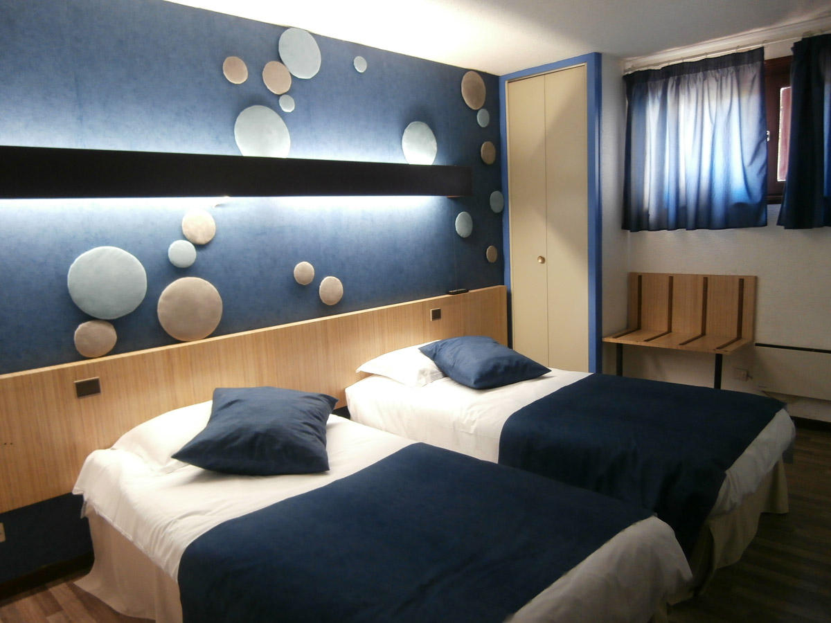 Room Twin Beds Blue
